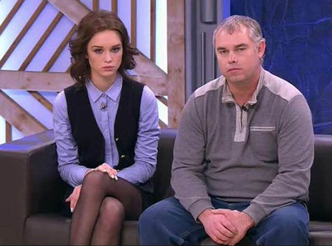 Диана Шурыгина с отцом Алексеем