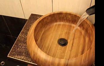 раковина из бамбука